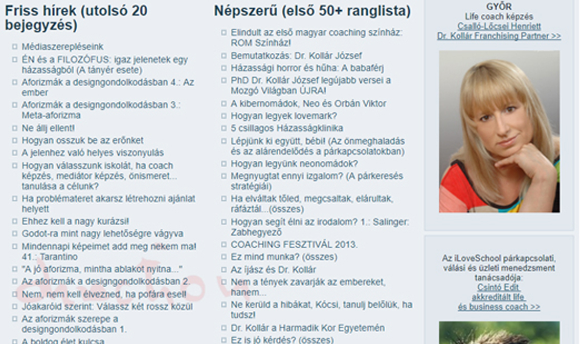 DR KOLLÁR ISKOLA EGYETEMI és NEMZETKÖZI minőségű coach képzés cdbef34c06